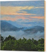 Closer To Heaven In The Blue Ridge Mountains Wood Print