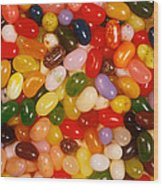 Closeup Of Assorted Jellybeans  Wood Print