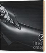 Closeup Of Lexus Lfa Car Wood Print