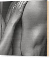 Closeup Of Naked Woman And Man Body Parts Wood Print