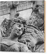 Closeup View Of The Original Baroque Sculpture Wood Print