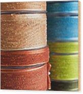 Cloth Ribbons Wood Print