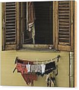 Clothes Dryer Wood Print