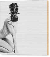 Clothing Optional Gas Mask Required  Wood Print