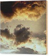 Golden Cloud Wood Print
