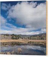 Cloud Above Dry Lagoon Wood Print