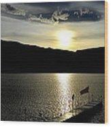 Cloud Chasing - Skaha Lake 4-2-2014  Wood Print