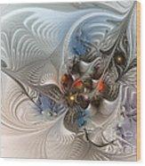Cloud Cuckoo Land-fractal Art Wood Print