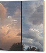 Cloud Diptych Wood Print
