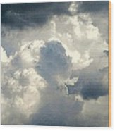 Cloud Drama Wood Print by Dawn Vagts