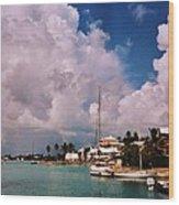 Cloud Faces Over St. George's, Bermuda Wood Print