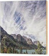 Cloud Formation At Saint Mary Lake Wood Print