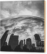 Cloud Gate Chicago Bean Wood Print by Paul Velgos