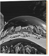 Cloud Gate Chicago - The Bean Wood Print by Christine Till
