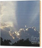 Cloud Glow Wood Print