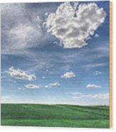 Cloud Heart Wood Print