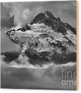 Cloud Layers Over Tantalus Wood Print