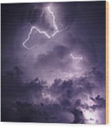 Cloud Lightning Wood Print
