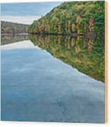 Lake - Cloud Mirror Wood Print