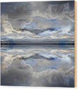 Cloud Mirror Wood Print