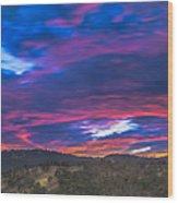 Cloud Movement At Sunset Wood Print