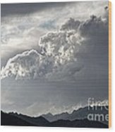 Cloud Over Goat Mountain Wood Print