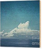 Cloud Over Island Wood Print