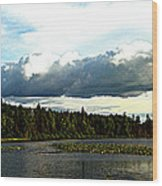 Cloud Over Lake Tomiko Wood Print by Dianne  Lacourciere