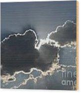 Cloud Rays Wood Print