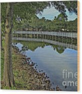 Cloud Reflection At The Pond Wood Print