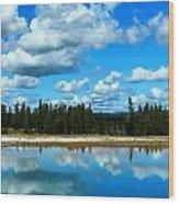 Cloud Reflections Wood Print