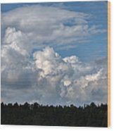 cloud scape sep 2014- Blue sky and clouds  Wood Print