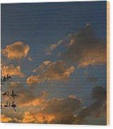 Cloud Series 30 Of Sunset Wood Print