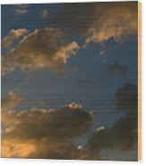 Cloud Series 34 Of Sunset  Wood Print