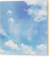 Cloud Shapes Wood Print