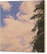 Cloud Slide Wood Print