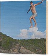 Cloud Surfer Wood Print