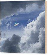 Cloud Surfing Wood Print