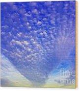 Cloud Tails At Sunrise Wood Print
