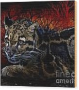 Clouded Leopard Two Wood Print