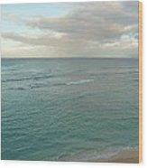 Clouded Sea Wood Print
