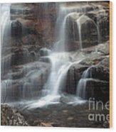 Cloudland Falls Wood Print
