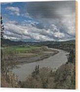 Clouds Above Eel River Wood Print