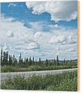 Clouds Above Taylor Highway To Chicken-ak Wood Print