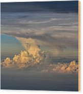 Clouds Above The Clouds Wood Print