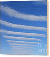 Clouds. Wood Print by Alexandr  Malyshev