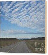 Clouds Along Newman Road Wood Print