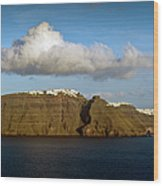 Clouds And Cliffs Wood Print