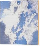 Clouds And Sunshine Wood Print
