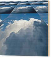Clouds Ascending Wood Print